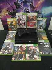 ★ Xbox 360 Slim 250GB + 11 Juegos + Cables ★