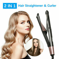 2 In1 Curling Iron Hair Straightener Salon Curler Curling Hair Style  Curlers