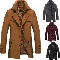 Winter Men Coat Suits Warm Wear Outside Business Blazer Wool Blend Prom Tuxedos
