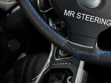 Pour Nissan Juke 10-17 vrai Volant en cuir couverture bleu clair double stitch