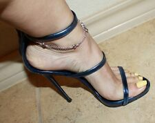 Giuseppe Zanotti Harmony Metallic Blue Sandals Heels Shoes 35 5