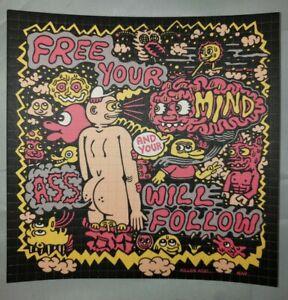 """Killer Acid """"Free Your Mind """" signed  blotter art print limited edition"""