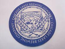 Beer Pub Bar Coaster <*> CASCADE LAKES Brewing Co <*> OREGON Brewery Since 1994
