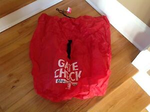 Travel Car Seat Bag Gate Check - Red