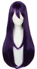 Yuri Wig Long Purple Halloween Cosplay Costume Wig for Women 85CM