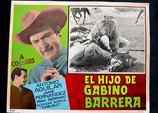 """ANTONIO AGUILAR """"EL HIJO DE GABINO BARRERA"""" LA TIGRESA NMINT LOBBY CARD PHOTO 64"""