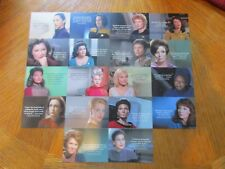 2017 Women of Star Trek 50th Anniversary Complete 18 Card Quotable Women Set