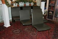 Designer Bo Concept mariposa dining chairs leather anthracite cost £4800 selling