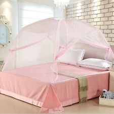 Pink Folding Freestand Bed Canopy Mosquito Net Tent For Single Bed 1.2*2m