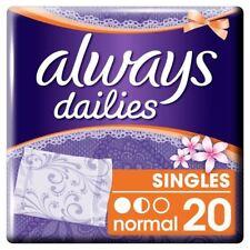 Siempre diarios Salvaslips normal aroma fresco individualmente envuelto paquete de 20