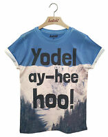 BATCH1 YODEL AY-HEE HOO! ALL OVER PRINT SKI SEASON WINTER SNOWBOARD MENS T-SHIRT