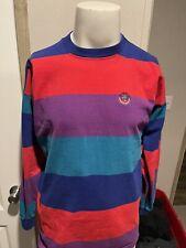 Vintage Duck Head Color Block Striped Mens Long Sleeve T Shirt Large L