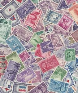 US Stamps lot, 25 MNH stamps from the 1930's through 1950's /  MNH