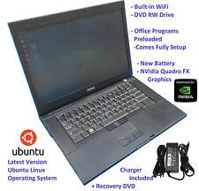 "Dell Precision M4400 15"" Laptop 2.53GHz Intel Core 2 Duo 4GB RAM 240GB SSD Linux"