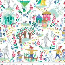 By 1/2 Yard Riley Blake Wizard of Oz Fabric ~ Dorothy's Journey Main in White