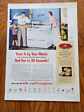 1951 Westinghouse Electric Range Ad Red Hot in 30 Seconds time it by Your Watch