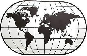 Wall Mirror - Travel World Map Mirror -  60cm x 100cm