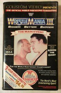 WrestleMania III [3] BETA 1987 WWF / Coliseum Video Hulk Hogan Andre BETAMAX