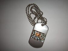 I LOVE MY SAILOR Raised Insignia Stainless Steel Dog Tag + Ball Chain Unused
