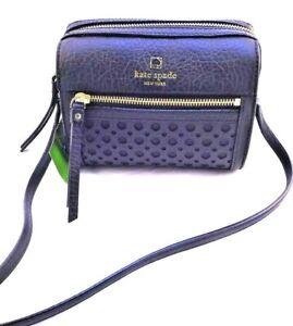 New KATE SPADE Looloo Perri Lane Bubbles Crossbody Black Leather Bag RETAIL $248