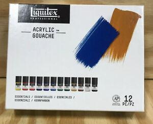 Liquitex Professional Acrylic Gouache Essentials Paint Set - 12 x 22ml Bottles
