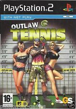 OUTLAW TENNIS for Playstation 2 PS2 - with box & manual - PAL