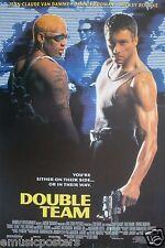 "JEAN-CLAUDE VAN DAMME/DENNIS RODMAN ""DOUBLE TEAM"" POSTER FROM ASIA-Mickey Rourke"