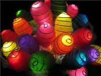20 cocoon party LED multi coloured fairy light battery powered table centre 3mtr