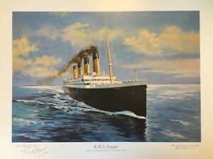RMS Titanic Print - signed by the Artist - limited edition