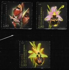 Orchids set of 3 mnh stamps 2014 Croatia #903-5 Flowers