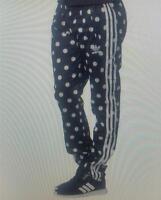Adidas mujer entallado Súper niña lunares Pantalón De Chándal Nuevo ab2249
