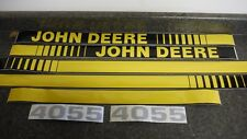 JOHN DEERE 4055 TRACTOR DECALS. HOOD & NUMBERS ONLY. SEE DETAILS & PICTURES
