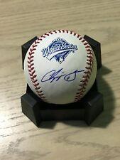 Chipper Jones Braves HOF Signed 1995 World Series Ball Pearl white baseball