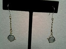 14 kt gold & sterling silver calcedony Earrings