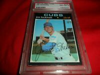 1971 O-Pee-Chee OPC Topps #175 Jim Hickman Chicago Cubs NM MINT PSA 8