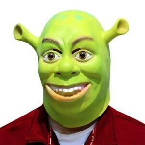 Funny Green Shrek Cosplay Mask Halloween Fancy Dress Costume Latex Masks Party