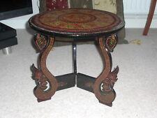 Lacquerware Table. Handmade Burmese folding lacquer ware table
