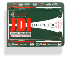 Radial Engineering JDI Duplex - Two Channel Professional Passive Direct Box NEW!