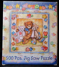 Giftco Inc. 500 Piece Jigsaw Puzzle - Three Teddy Bears NIB Sealed