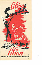 PUBLICITE ADVERTISING 064  1963  SCANDALE  bas & collants  LILION