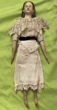 Early Antique 12� German 1800's Milliners Model Doll All Original w/ Long Curls