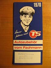 1970 Prospekt TS Union Autozubehör vom Fachmann