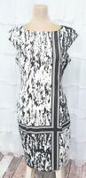 London Style Women's Size 8 Abstract Print Lined Sleeveless Sheath Dress