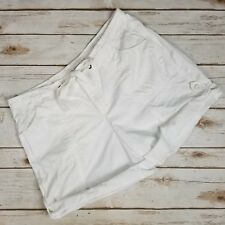 St.John's Bay White Cotton Casual Tie Roll Up Mini Shorts Womens Size 12P