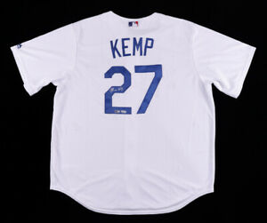 Matt Kemp Signed Los Angeles Dodgers Majestic MLB Jersey (MLB Hologram)