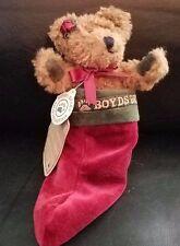 Boyd's Bears Archive Felicity Tan Bear iin stocking stuffed/plush/jointed - NWT