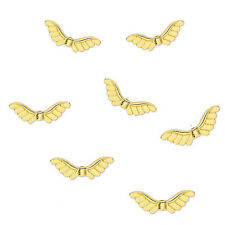 25 Gold Plated Rising Angel Wing Beads 24MM