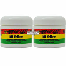 """African Queen Beauty Cream Mj Yellow 2 Oz / 56.6 g """"Pack of 2"""""""
