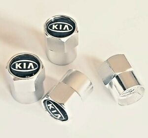 For KIA Logo Emblem Wheel Tyre Valve Stems Air Dust Cover Screw Caps