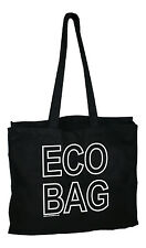 Fabric Cotton Canvas Tote Shopping Bag Beach Large Extra Strong Long Straps